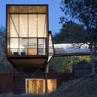 Inspiration för industriella hus, med två våningar