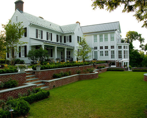 Tiered retaining wall home design ideas pictures remodel for House brick garden wall designs