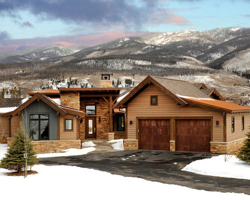 Contemporary timber frame ranch silverthorn colorado for Timber frame ranch homes