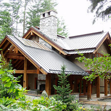 Rustic Exterior by Nigel Walker and Associates Inc