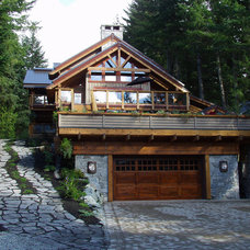 Contemporary Exterior by Kindred Construction Ltd.