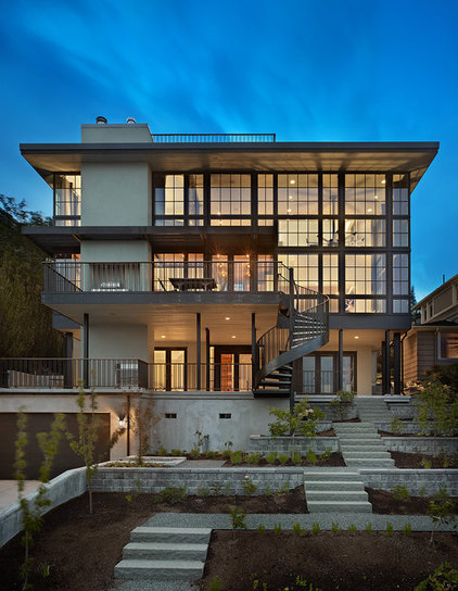 Contemporary Exterior by Janof Architecture