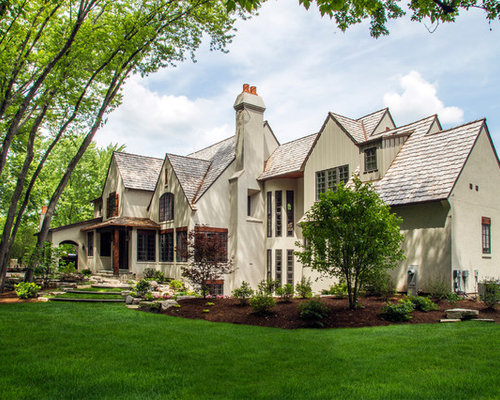 Whimsical Stone Stucco And Board Amp Batten Chateau In