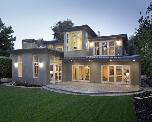 White window frame houzz for Modern house exterior window trim
