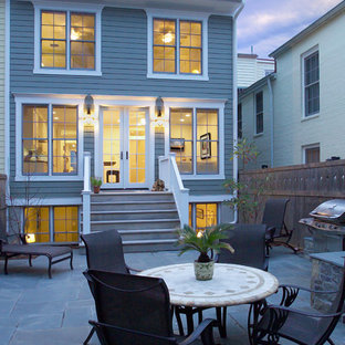 Traditional blue exterior home idea in DC Metro