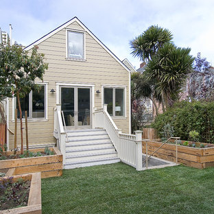 Small traditional two-story exterior home idea in San Francisco