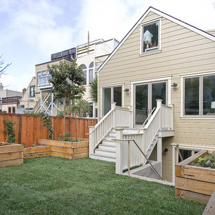 Small elegant two-story exterior home photo in San Francisco
