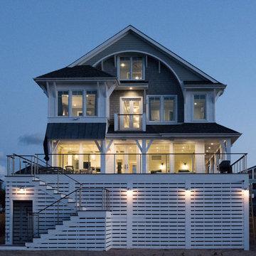Rear of house - nighttime lighting