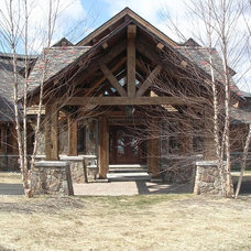 Rustic Exterior by Boards and Beams Co. LLC