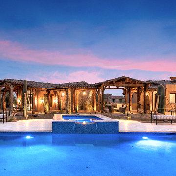 Reclaimed Beams Mansion designed by Fratantoni Design!