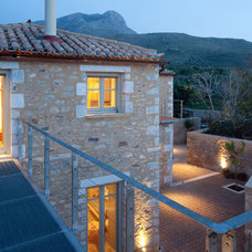 Mediterranean Exterior by hhharchitects