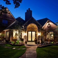 Transitional Exterior by Christopher Lee & Company Fine Homes