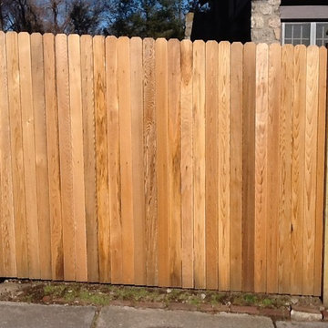 Red Cedar Flatboard Privacy Fence