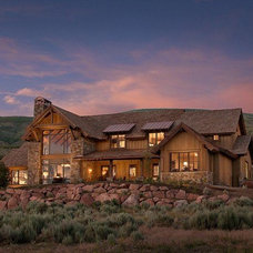 Rustic Exterior by CSE & Associates, INC.