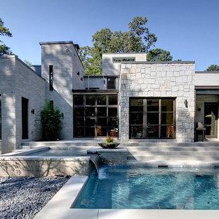 Minimalist stone exterior home photo in Atlanta