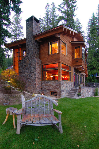 Rustic Exterior by SHKS Architects