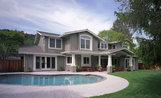 Modern Exterior by Canyon Construction