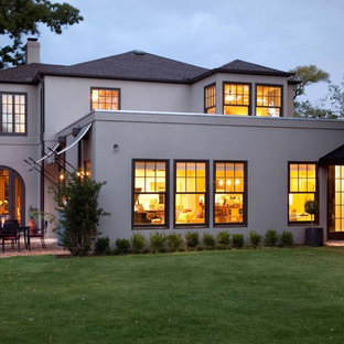 Inspiration for a timeless two-story exterior home remodel in Austin