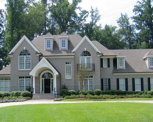 Light Gray Brick Exterior Home Design Ideas Pictures Remodel And Decor