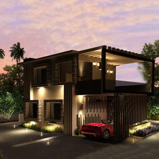 Aménagement d'une façade de maison.