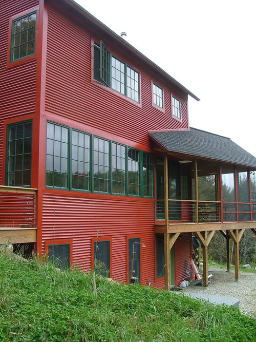 Red Siding Houzz