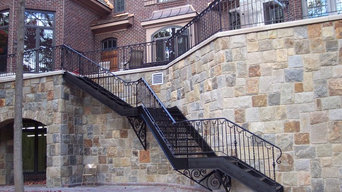 Residential Iron Stair Installation