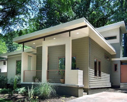 Raised Ranch Modern Exterior Remodel Design Ideas Remodel Pictures Houzz