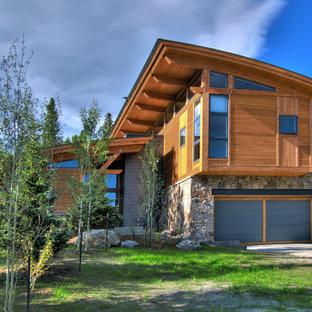 Inspiration for a contemporary exterior home remodel in Denver