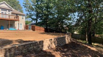 Retaining wall in Bentonville