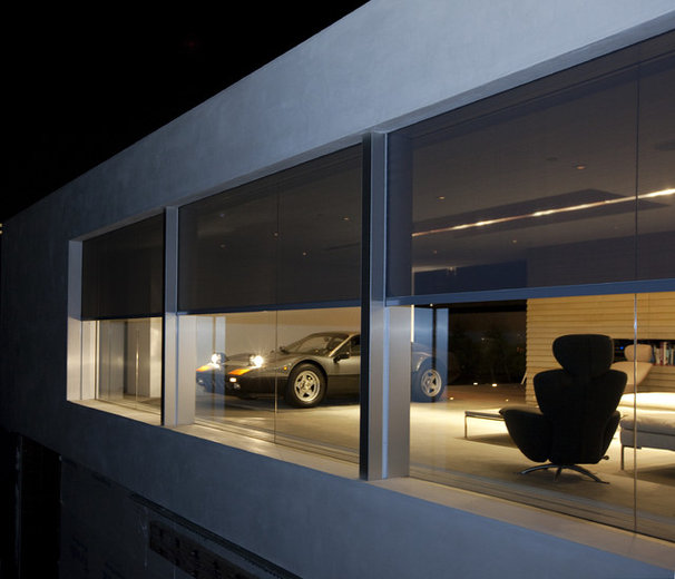 Contemporary Garage And Shed by Phantom Screens