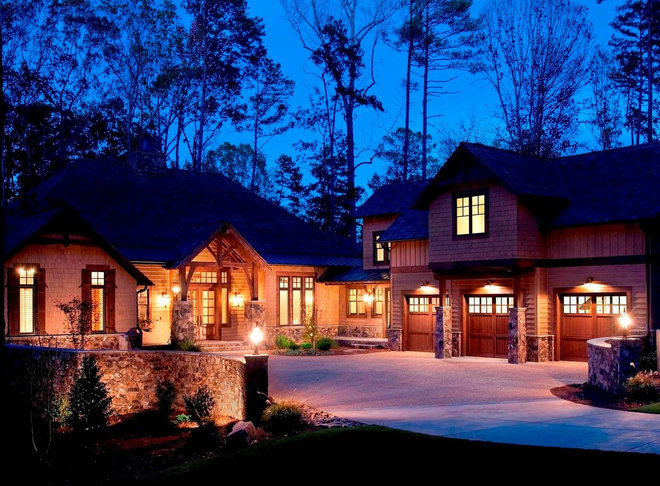Traditional Exterior by Michelle Tumlin Design