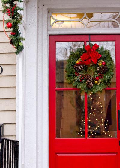 weihnachtsdeko im garten und au enbereich 16 festliche ideen. Black Bedroom Furniture Sets. Home Design Ideas