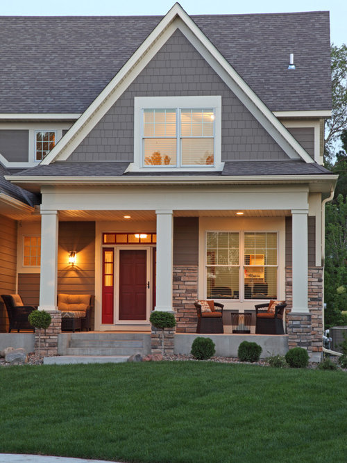 Faux Stone Porch Home Design Ideas Pictures Remodel And