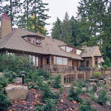Traditional Exterior by Richard Brown Architect AIA