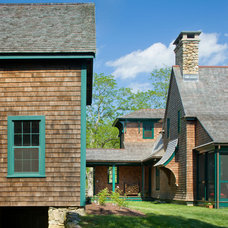 Rustic Exterior by Albert, Righter & Tittmann Architects, Inc.
