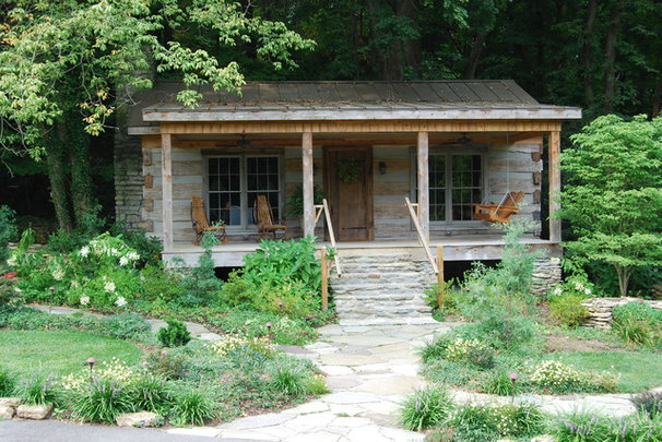 Rustic Exterior by Landscapes by Dallas Foster, Inc