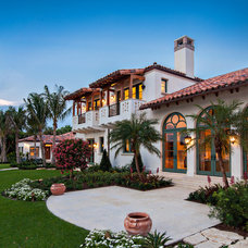 Mediterranean Exterior by Architectural Photographer Ron Rosenzweig