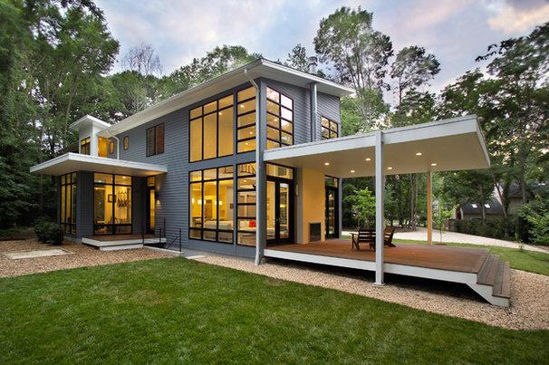 Haus moderne hausentw rfe mit pultdach amp versetztem for Modernes haus mit versetztem pultdach