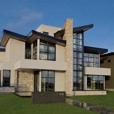Contemporary Exterior by Riverview Custom Homes