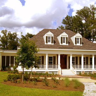Traditional wood exterior home idea in New Orleans