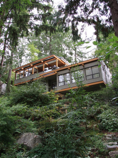 Steep slope house home design ideas pictures remodel and for Slope home design