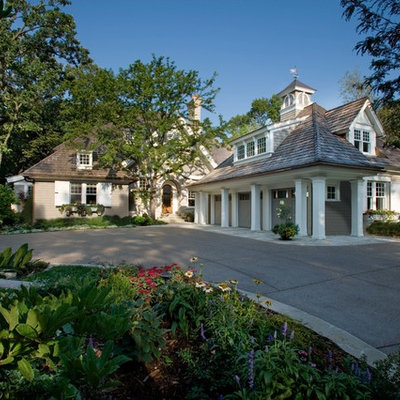 Inspiration for a timeless two-story exterior home remodel in Minneapolis
