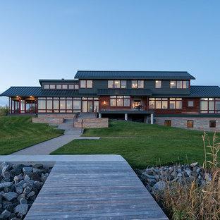 30 Trendy Transitional Split-Level Exterior Home Design Ideas ...