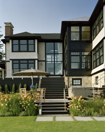 Transitional Exterior by LDa Architecture & Interiors