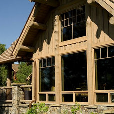 Rustic Exterior by Rocky Mountain Log Homes