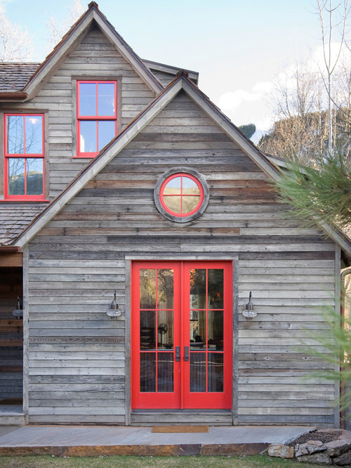 Barn wood trim ideas pictures remodel and decor for Log cabin window trim