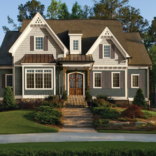 Traditional exterior design ideas remodels photos for House color schemes exterior examples