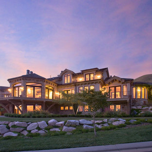 Mediterranean two-story exterior home idea in Salt Lake City