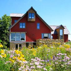 Farmhouse Exterior by Locus Architecture