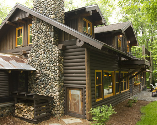 Log Home Exterior Houzz